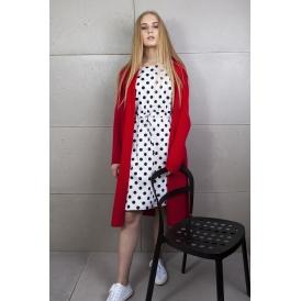 Sweter długi czerwony