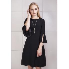 Sukienka czarna z rozcięciami