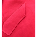 Trencz wiosenny w kolorze czerwonym z lnu i jedwabiu