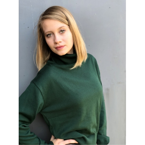 6483d332 Sweter Hana zielony