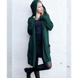 Sweter z kapturem zielony